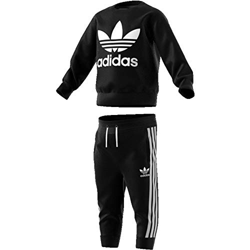 adidas Crew Set, Suits Unisex Bambini, Black/White, 2-3A