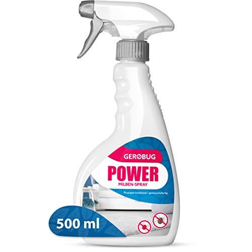 Gerobug Power Milbenspray - Milbenspray für Matratzen, Polster und andere Textilien (500 ml)