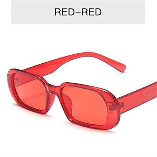LDH 2 Piezas Pequeñas Gafas De Sol Mujeres Moda Oval Sol Gafas Hombres Vintage Verde Rojo Gafas Damas Estilo Viajar Estilo UV400 Gafas (Color : H)