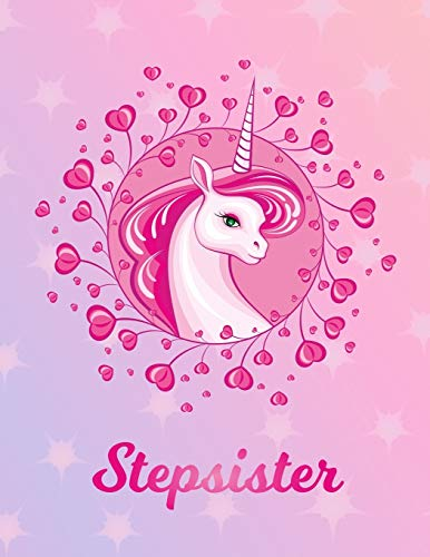 Stepsister: Unicorn Sheet Music Note Manuscript Notebook Paper – Magical Horse Personalized Letter S Initial Custom First Name Cover – Musician … Notepad Notation Guide – Compose Write Songs