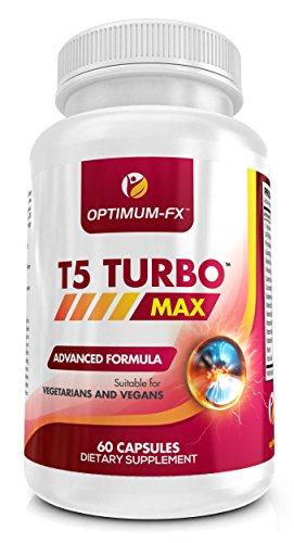 T5 TURBO MAX Starker Fettverbrenner für Männer und Frauen - Pillen zum Abnehmen T5 Diätpillen - 60 Kapseln - Geld-zurück-Garantie
