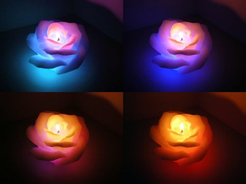 紳士気取りの、きざな爆発するアスペクト7色に変化!プレゼントにも!LED内臓キャンドル(バラ)