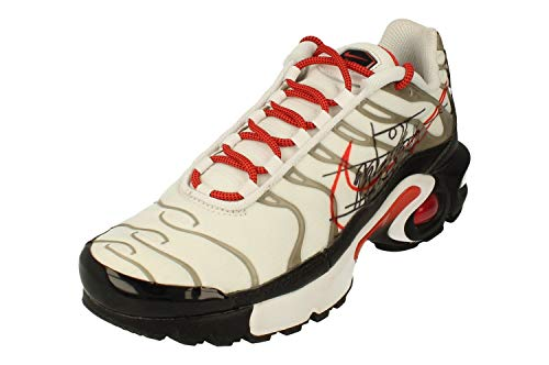 Nike Air MAX Plus GS Running Trainers CQ4815 Sneakers Zapatos (UK 3.5 us 4Y EU 36, White Black Pure Platinum 100)