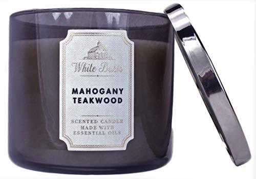 Bath & Body Works, White Barn 3-Wick Candle, Mahogany...