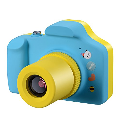 Samoleus Macchina Fotografica per Bambini, Mini Fotocamera Digitale Portatile, Digital Camera Kids Videocamera HD 1080P / 5MP / LCD da 1.5 Pollici / con Scheda SD da 16 GB (Blu)