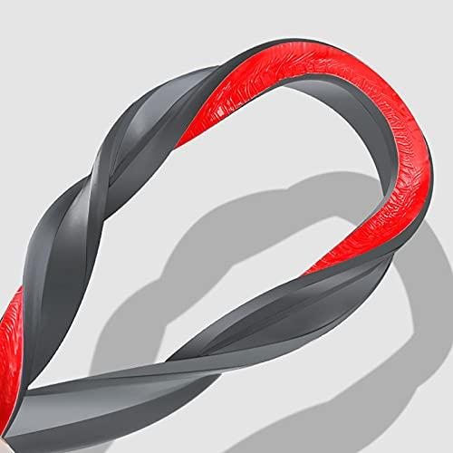 Oukerde Tira Impermeable de Sellado de mampara de Ducha,Tira Impermeable de Silicona/Sistema de fijación de Parada de Agua,Altura 4cm,con Herramienta de instalación