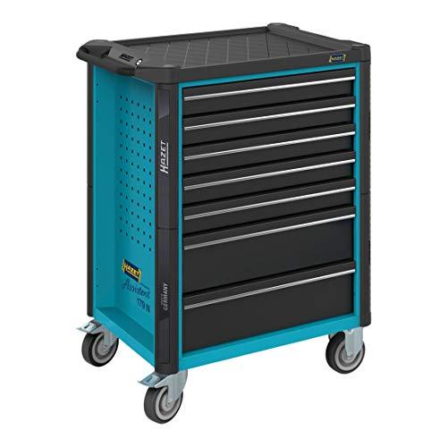 HAZET Werkstattwagen Assistent 179N-8 Schubladen flach: 7x 77x522x398 mm Schubladen hoch: 1x 162x522x398 mm