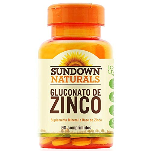 Zinco 7mg - 90 Comprimidos, Sundown Naturals, Sundown Naturals