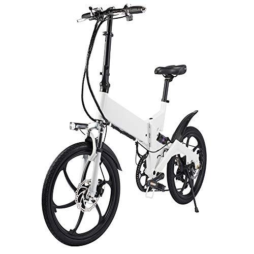 Z&L Bicicletta Elettrica Pieghevole 20 Pollici Per Adulto Guida Mini Mini Vai Al Lavoro Batteria Al Litio Da Viaggio E Bicicletta Pieghevole Portatile