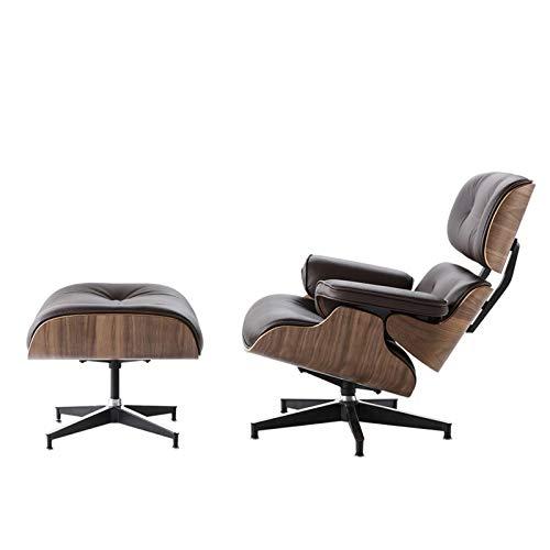 GIAO Executive Recliner Stuhl, Freizeitstuhl Liegestuhl, Echtes Lederstuhl 15 ° Neigung Winkel Home Office Möbelstuhl