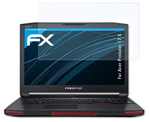 atFolix Schutzfolie kompatibel mit Acer Predator 17 X Folie, ultraklare FX Bildschirmschutzfolie (2X)