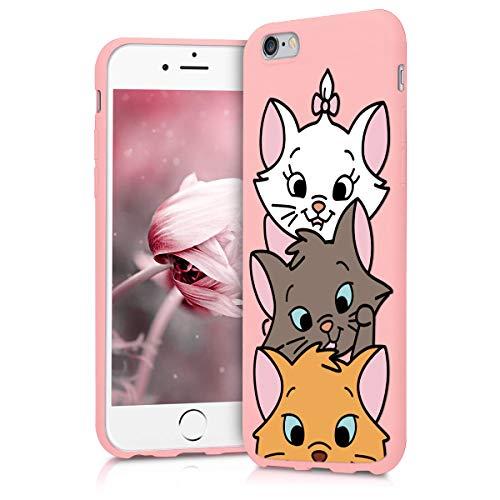 Pnakqil Coque iPhone 6s / 6, Rose avec Mignon Motif Dessin Silicone Flexible Souple Case Gel TPU Bumper Soft Ultra Mince Fine Housse de Antichoc Protection Cover pour Apple 6s / 6, Porc