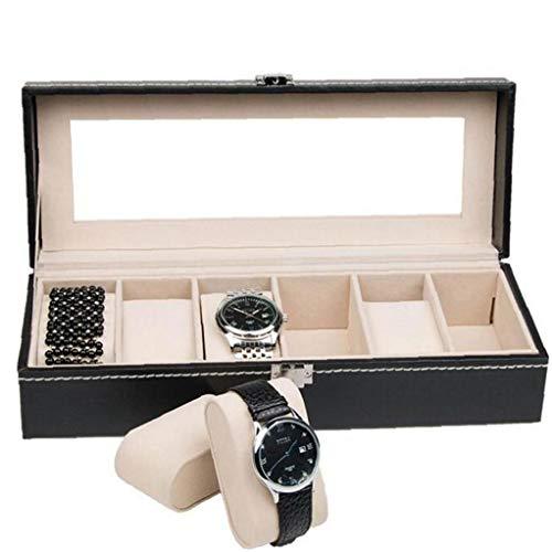 Lankater Piel 1pc Caja De Reloj Relojes De Moda del Caso De Exhibición Caja De Reloj De Joyería para Novio Hombres