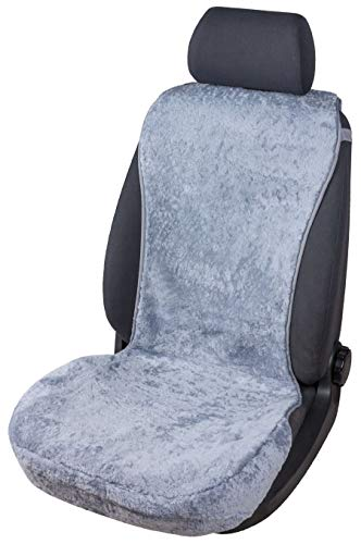 Walser Sitzaufleger aus Lammfell Vogue grau 16-18mm Fellhöhe