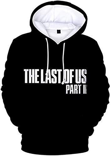 The Last of Us Sudadera con capucha para niños y niñas con impresión 3D de manga larga con capucha Harajuku, unisex 3 150 cm