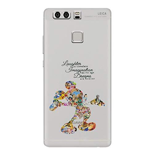 Preisvergleich Produktbild I-CHOOSE LIMITED Fan Art Telefon Hülle / Case für Huawei P9 / Gel / TPU / Disney Zitat