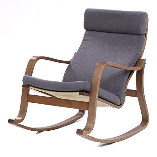 Rocking chair YX Silla Mecedora nórdica de Madera Maciza, sillón con reposabrazos,...
