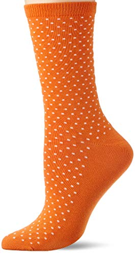 GANT Damen D1. Seasonal Dot Socken, Orange (Amberglow 800), One Size (Herstellergröße: Oversize)