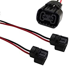 iJDMTOY (2) 5202 2504 PS24W Bulbs Female Connector Wiring Pigtail Harnesses For Fog Lights/Daytime Running Lamps