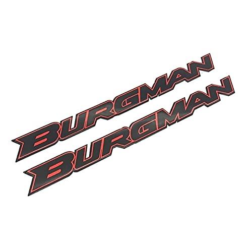 Protector Tanque Etiqueta Reflectante de Epoxy Burgman 3D para Suzuki Burgman UN 125 200 400 650 AN125. Scooter de la Motocicleta Body Shell Carning Logo Decal (Color : 2PCS Red)