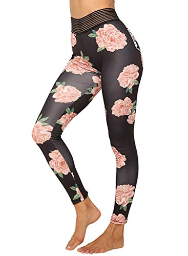CORAFRITZ Leggings para mujer, de moda, fruncidos, levantamiento de glúteos, cintura alta, entrenamiento, control de barriga, gimnasio, yoga, pantalones deportivos