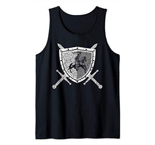 Ritterrüstung mit Löwen am Brustpanzer Mittelalter Ritter Tank Top