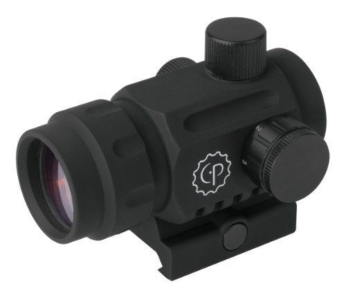 CenterPoint Optics 72609 Compact 1x20mm Enclosed Refelex Battle Sight With 3 MOA Red Dot For Picatinny Mount