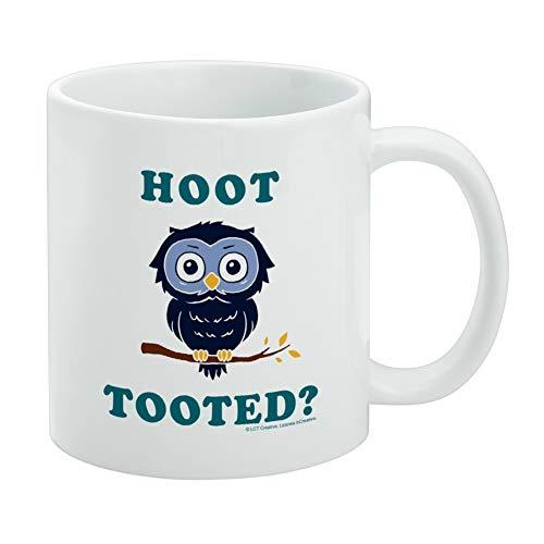 Hoot Tooted Owl Who Funny Humor White Mug