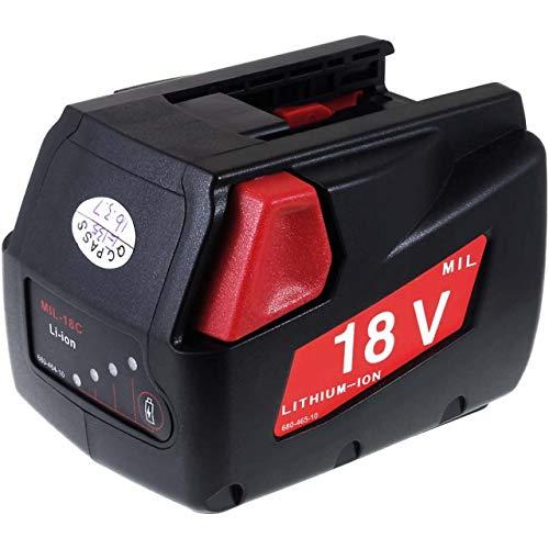 Accu voor Milwaukee Boor- Schroefmachine V18DD 2000mAh, 18V, Li-Ion