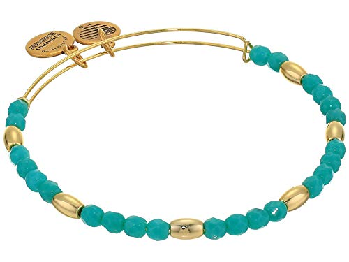Alex and Ani Balance Bead II Bracelet Mint Green One Size, Shiny Gold, A20BBEAD06SG, A20BBEAD06SG, A20BBEAD06SG, A20BBEAD06SG