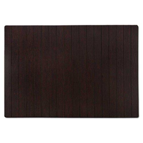 casa pura Tapis de Bain Emma en Bambou | Tapis de Sauna - 2 Coloris | 60x90cm | Dos antiglisse, Marron foncé