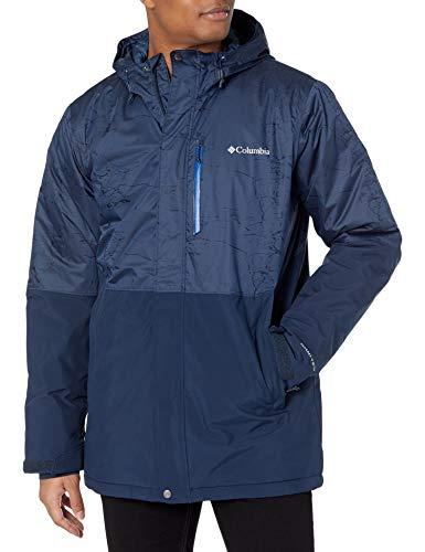 Columbia Men's Winter District Jacket, Collegiate Navy/Coll Navy Jacquard, 5X Tall