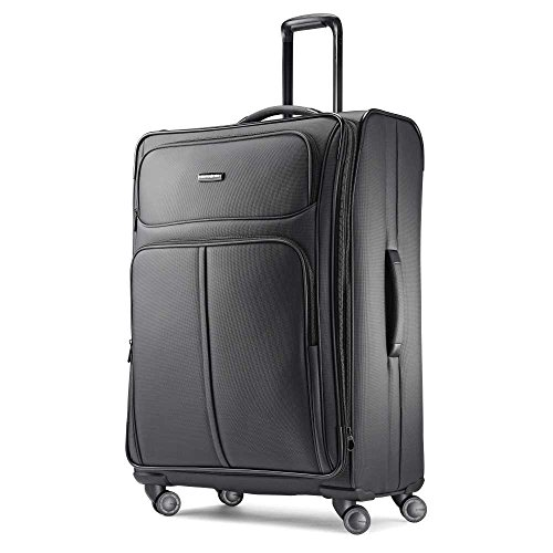 Samsonite Leverage LTE Softside Luggage, Charcoal, Checked-Large