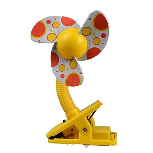 Ventilatori elettrici Desktop palmare Culla Passeggino Fan Mini Clip Portatile USBCharging Dormitorio Ufficio Piccolo Ventilatore Elettrico (Blu) [ZRX] (Color : Yellow)