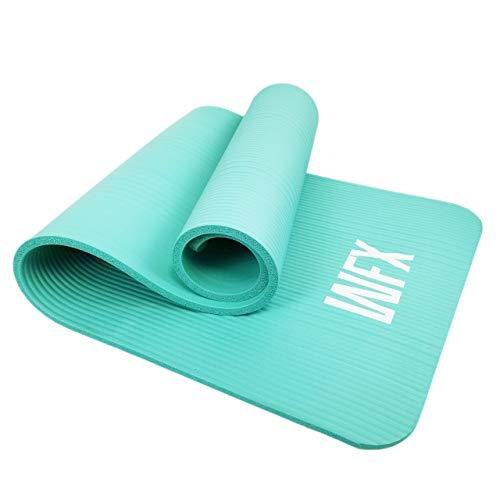 #DoYourFitness x World Fitness - Fitnessmatte Yogamatte »Jivan« - inkl. Tragegurt - 186 x 61 x 2cm - gepolstert & rutschfest- Gymnastikmatte für Yoga, Pilates, Workout, Outdoor, Gym - türkis