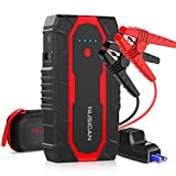 Car Battery Jump Starter, 1500A Powerful Power Pack Car Starter up to 7L Gas & 5.5L Diesel Engine, Nusican 12V Auto Car Jumper Starter Battery Booster with QC 3.0, Type C Port and LED Flashlight