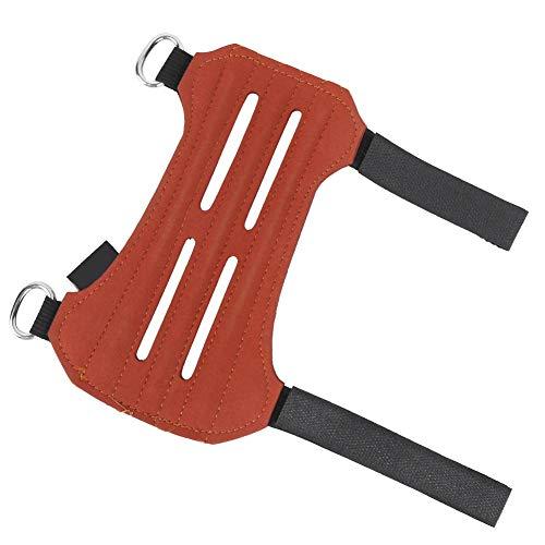 Keenso Protector de Brazo de Tiro con Arco al Aire Libre, Protector de Brazo de Pelo invertido, Equipo de protección de Brazo de Tiro con Arco Tradicional