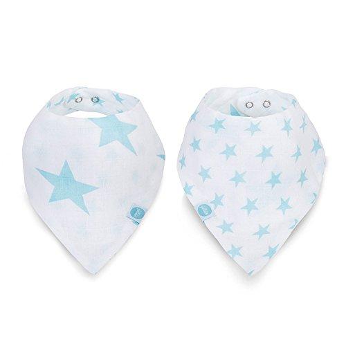 Jollein 029-868-65027 slabbetje bandana Mull Little star jade (2 stuks), blauw