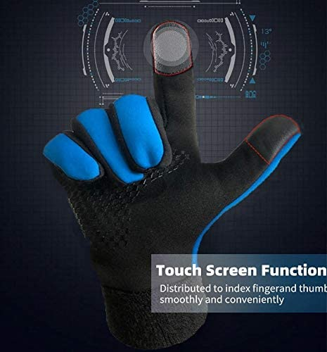 Touch Screen Sports Outdoor Gloves for Hiking Driving Skiing Skating School Climbing Winter Gloves for Kids Touchscreen Boys Girls Youth Running Cycling Gloves Lightweight Warm Thermal