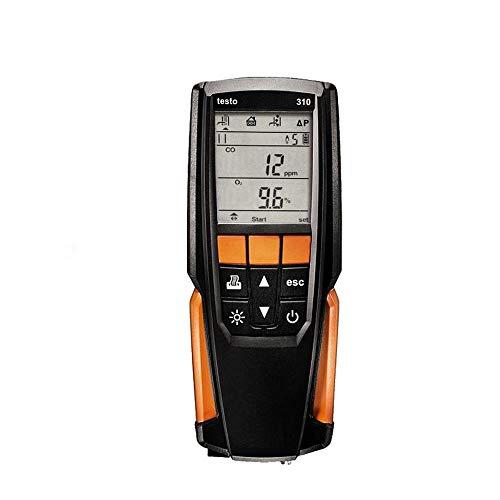 Testo 310 – Débit de gaz (kit standard) Plage de mesure 0 à 4000 ppm fumée de fumée d'analyse de gaz O2 CO offre plus de paramètres de combustion pour une régulation précise du chauffage