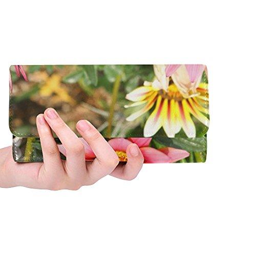 Unique Custom Flowers Travel Republic Of Korea Macro Let Honiara Women Trifold Wallet Long Purse Credit Card Holder Case Handbag