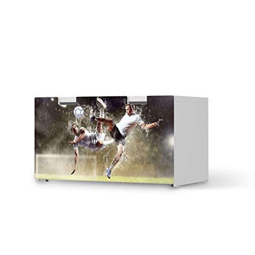 creatisto Kinder Möbel-Folie - passend für IKEA Stuva Banktruhe I Schöne Kinder-Möbel Deko - Möbelfolie für Kinder- und Babyzimmer I Design: Soccer