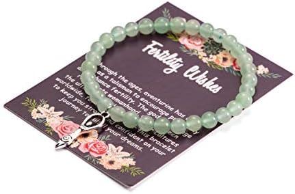 Fertility Wishes Gift Handmade Bead Bracelet Infertility Fashion Jewelry with Fertility Goddess product image