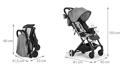 Kinderkraft Pilot light stroller, buggy stroller, child buggy, folding KinderKraft An innovative folding system, with a shoulder strap for easy transport The set contains: Modern barrier, shopping basket under the seat, foot protection, rain cover and cup holder. High quality stored, rubber wheels - all muffled. 13