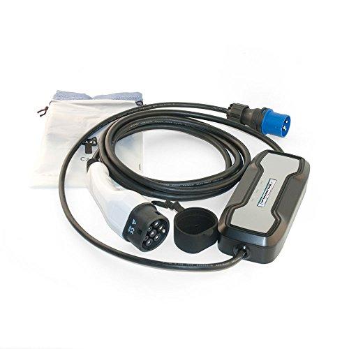 Tragbare Wallbox für Elektrofahrzeuge / Hybrid Ladestation mit CEE Stecker, Ladestecker Typ 2 16A