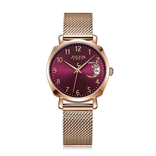 ZJYSM Julius Versatile Fashion Calendar Quartz Watches Waterproof Casual Female (Color : A, Size : 30MM)