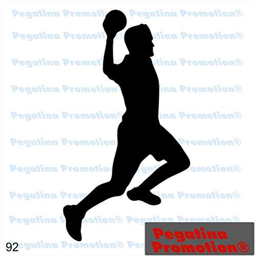 Piktogramm Typ 92 Icon Symbol Zeichen Handball Handballer Sport männlich Mann Aufkleber Sticker ca.15cm von Pegatina Promotion® Aufkleber mit Verklebehilfe von Pegatina Promotion® ohne Hintergrund geplottet