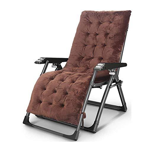 Dsnmm Ligstoel Opvouwbare lunchpauze Eenvoudige stoel Volwassen rieten strandstoel Balkon Deck stoel Kussen voor het verzenden van natuurlijke schroef Zware