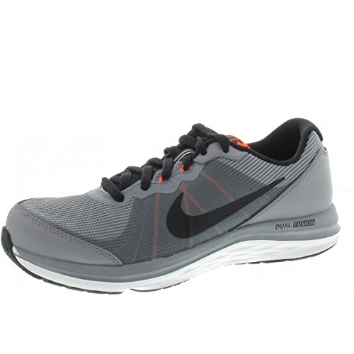 Nike Dual Fusion x 2 (GS), Zapatillas de Running para Hombre, Negro (Negro (Stealth/Black-White-Total Orange), 40 EU
