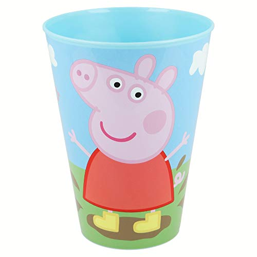 Peppa Pig Vaso apilable pp 430ml (Stor 52806), color negro, Mediano